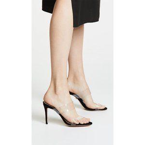 NWT Schutz Ariella Clear Strap Heels in Black 7